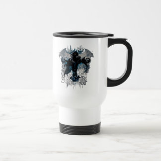 Batman Graffiti Graphic - I Know How You Think Stainless Steel Travel Mug