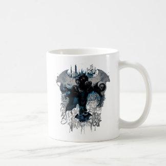 Batman Graffiti Graphic - I Know How You Think Basic White Mug