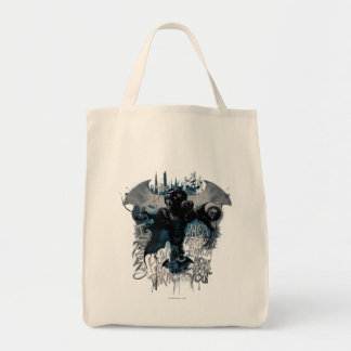 Batman Graffiti Graphic - I Know How You Think Grocery Tote Bag
