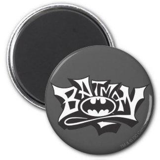 Batman | Graffiti Name Logo 6 Cm Round Magnet