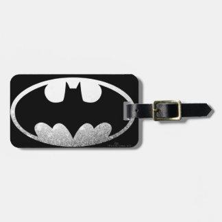 Batman Grainy Silver Logo Tags For Bags