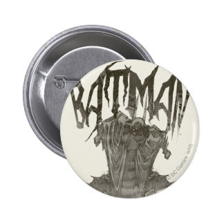 Batman | Graphic Novel Pencil Sketch Beige Logo 6 Cm Round Badge