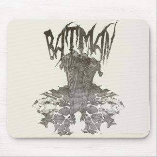 Batman | Graphic Novel Pencil Sketch Beige Logo Mouse Pad