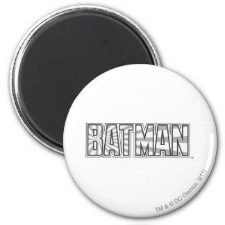 Batman | Grey Starbust Logo 6 Cm Round Magnet