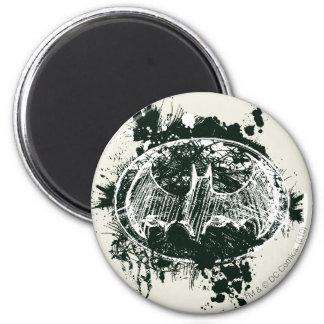 Batman Grunge Splatter Sketch 6 Cm Round Magnet