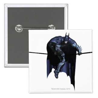 Batman Hanging On Line Pinback Button