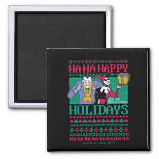 Batman | Happy Holidays Joker & Harley Quinn Magnet
