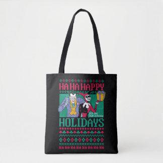 Batman | Happy Holidays Joker & Harley Quinn Tote Bag