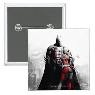 Batman & Harley 15 Cm Square Badge