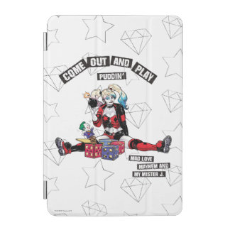 """Batman   Harley Quinn """"Come Out And Play Puddin'"""" iPad Mini Cover"""