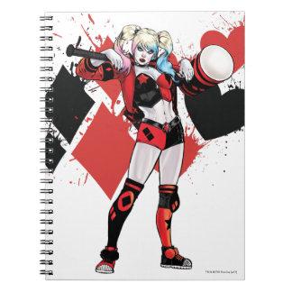 Batman | Harley Quinn Hearts & Diamonds Splatter Notebook