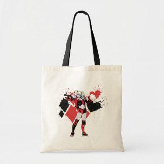 Batman | Harley Quinn Hearts & Diamonds Splatter Tote Bag