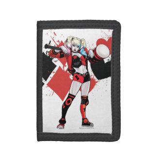 Batman | Harley Quinn Hearts & Diamonds Splatter Tri-fold Wallets