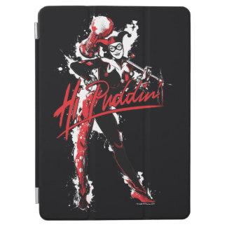 "Batman   Harley Quinn ""Hi Puddin'"" Ink Art iPad Air Cover"