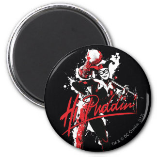 "Batman | Harley Quinn ""Hi Puddin'"" Ink Art Magnet"