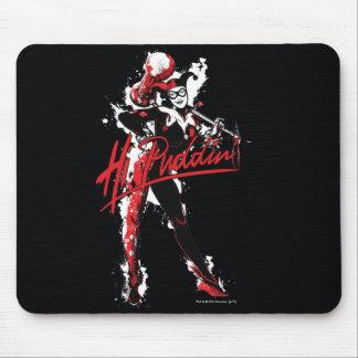 "Batman | Harley Quinn ""Hi Puddin'"" Ink Art Mouse Pad"