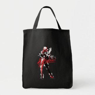 "Batman | Harley Quinn ""Hi Puddin'"" Ink Art Tote Bag"