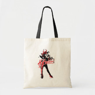 "Batman | Harley Quinn ""Hi Puddin'"" Ink Art Tote Bag"