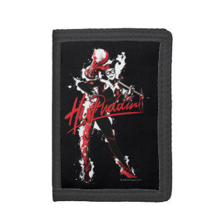 "Batman | Harley Quinn ""Hi Puddin'"" Ink Art Trifold Wallets"