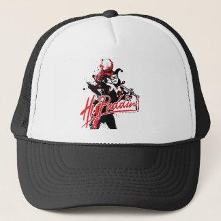 "Batman | Harley Quinn ""Hi Puddin'"" Ink Art Trucker Hat"