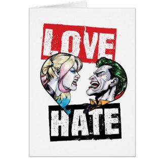 Batman | Harley Quinn & Joker Love/Hate Card