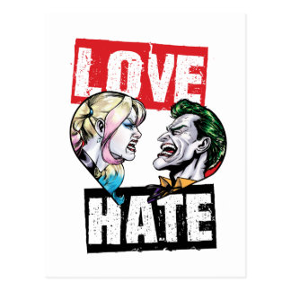 Batman | Harley Quinn & Joker Love/Hate Postcard