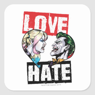 Batman | Harley Quinn & Joker Love/Hate Square Sticker