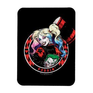 Batman | Harley Quinn Winking With Mallet Magnet