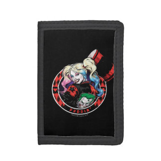 Batman | Harley Quinn Winking With Mallet Trifold Wallets