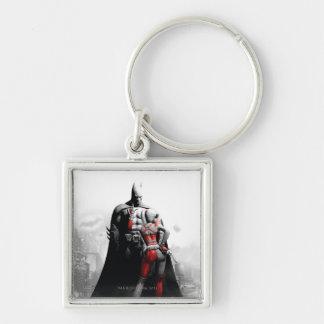 Batman & Harley Silver-Colored Square Key Ring