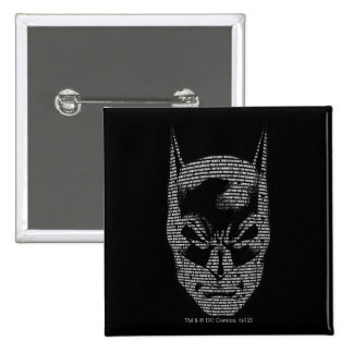 Batman Head Mantra 15 Cm Square Badge