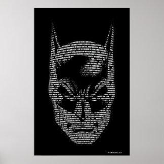 Batman Head Mantra Poster
