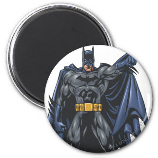 Batman holds up cape 6 cm round magnet
