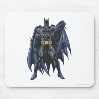 Batman holds up cape mouse pad