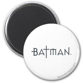Batman in styled font fridge magnet