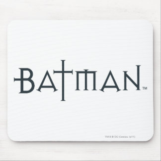 Batman in styled font mouse pad