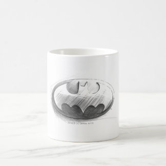 Batman Insignia Drawing Basic White Mug
