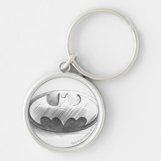 Batman Insignia Drawing Keychain