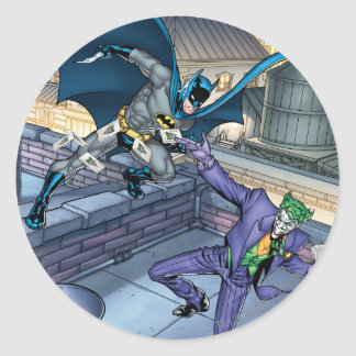 Batman & Joker - Battle Classic Round Sticker