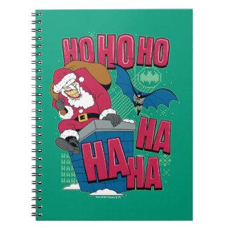 Batman | Joker Santa Claus Climbing Out Chimney Notebook