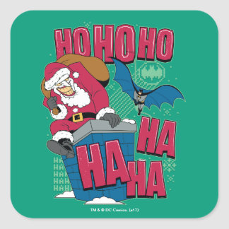 Batman | Joker Santa Claus Climbing Out Chimney Square Sticker