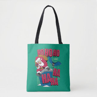 Batman | Joker Santa Claus Climbing Out Chimney Tote Bag