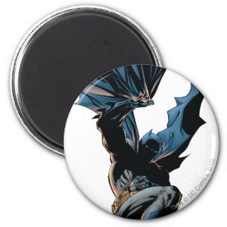 Batman Jumping Down Action Shot 6 Cm Round Magnet