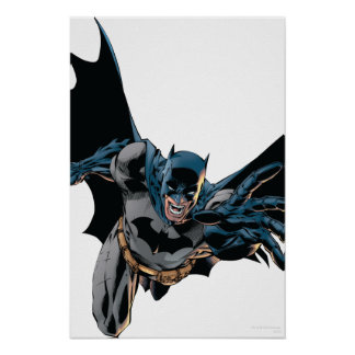 Batman Jumping Forward, Yell Poster