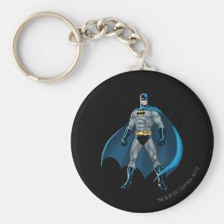 Batman Kicks Basic Round Button Key Ring