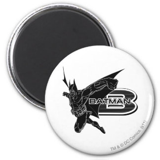 Batman Large B 6 Cm Round Magnet
