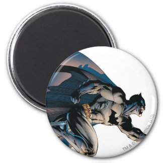 Batman Leaping Side View 6 Cm Round Magnet