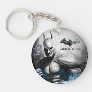 Batman - Lightning Double-Sided Round Acrylic Key Ring