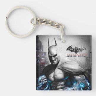 Batman - Lightning Double-Sided Square Acrylic Key Ring