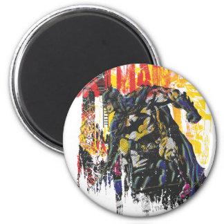 Batman Line Art Collage Fridge Magnets